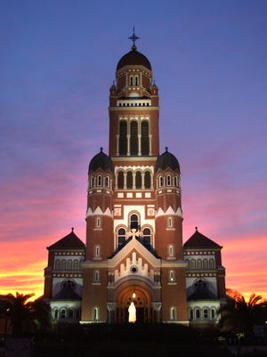 St. John Cathedral at sunset.By Leslie WestbrookFebruary 4, 2007