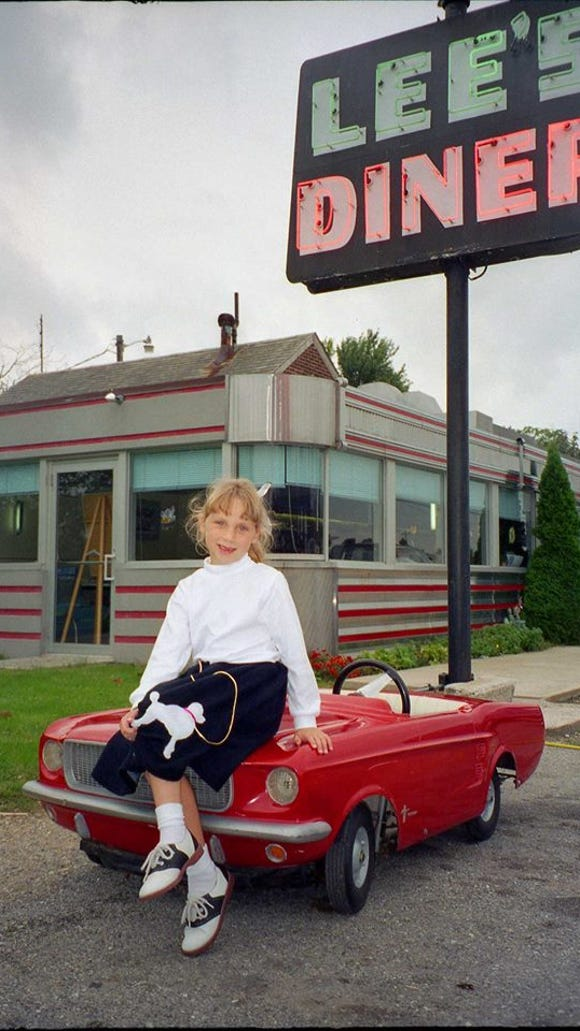 "Hillary Hess post this photo of her niece in Retro York Facebook Group. It was part of a York Antique Car Club ""Cruze-In"" at Lee's."