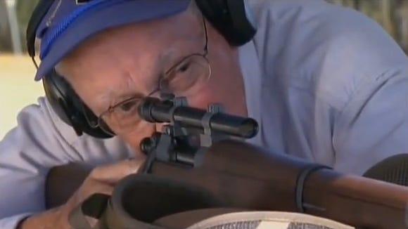 Former sniper Ted Gundy makes 1,000-yard shot.