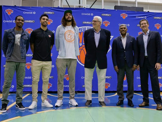 Phil Jackson signed Joakim Noah, Courtney Lee and Brandon Jennings, pairing them with Carmelo Anthony and Kristaps Porzingis in an attempt to remove some of the stain from his own record as an executive.