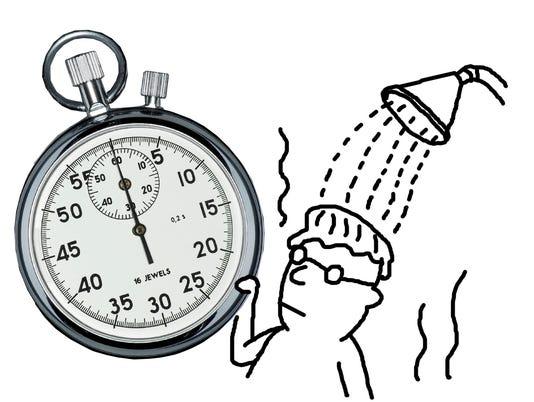Keep showers short