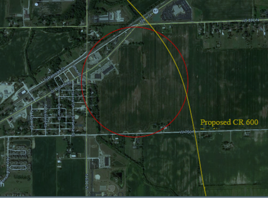 This 100 acre plot of farmland in McCordsville is being considered for a new downtown.