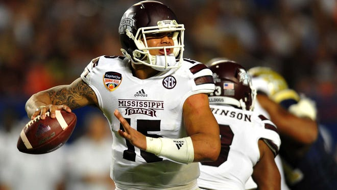 Mississippi State quarterback Dak Prescott (15) said his approach headed into the Belk Bowl will be the same as it is every other game.