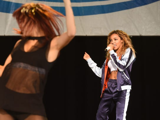 Tinashe, right, performs during KFEST 2017, held at