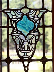 Leaded stain glass detail.