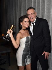 Maren Morris and Sony Music Nashville Chairman and