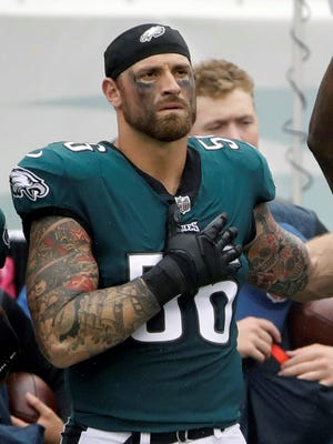 Defensive lineman Chris Long is among the Philadelphia Eagles players who have said they won't attend a White House ceremony honoring the team's Super Bowl victory. AP FILE PHOTO