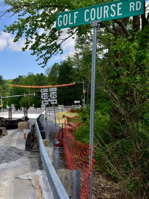 The bridge at Route 233 (Rocky Mountain Road) over Carbaugh Run, Greene Township, remained closed to traffic on Monday. The bridge is to open Thursday, May 24, 2018. Construction began the week of Jan. 22. This bridge is one out of the 558 bridges being replaced under the Rapid Bridge Replacement Project.