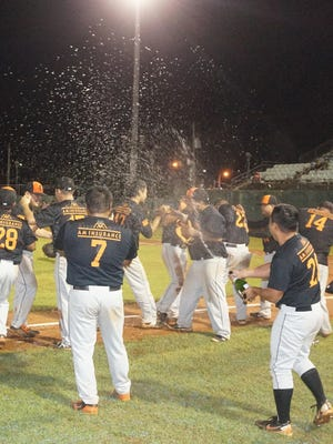 The AM Insurance/Crowns Guam/Autospot Orioles won the 2015 Guam Major League championship, beating the Astros in a three-game sweep at Paseo Stadium on Tuesday, Sept. 29, 2015.