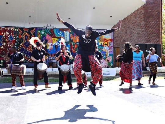 Dancers at a past annual Celebrate Nashville Cultural Festival in Centennial Park.