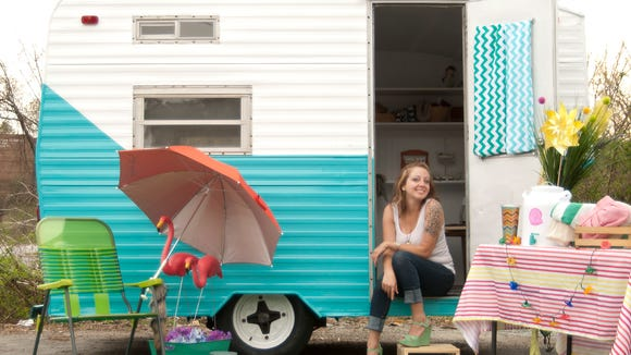 Celeste Adams and her mobile boutique.
