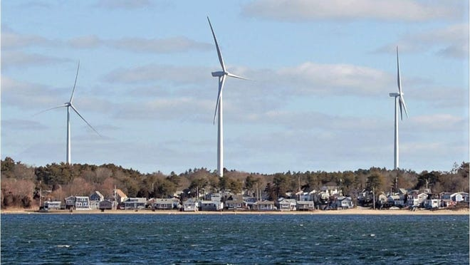 The Board of Health plans to hold a public hearing on the wind turbines in South Plymouth after the state of emergency is lifted.