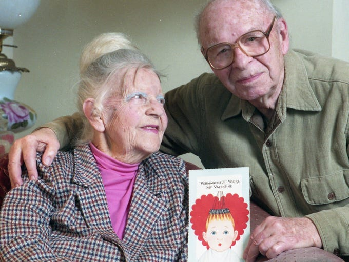 Mary and EddieButterfield have shared the same Valentine's