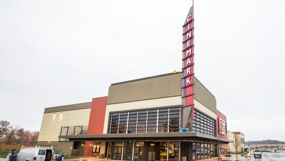 The Cinemark theater at the Christiana Mall. The theater