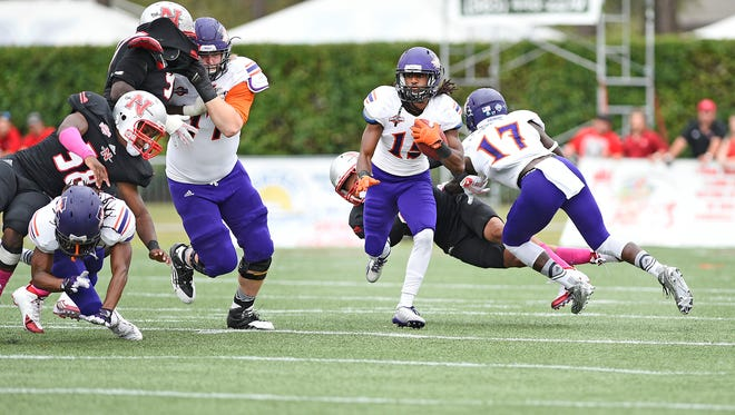 Northwestern State's offensive line has shown better production in the last few weeks.