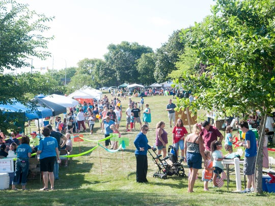 Crowds gathered along the St. Clair River during Family Night Thursday along the Black River.