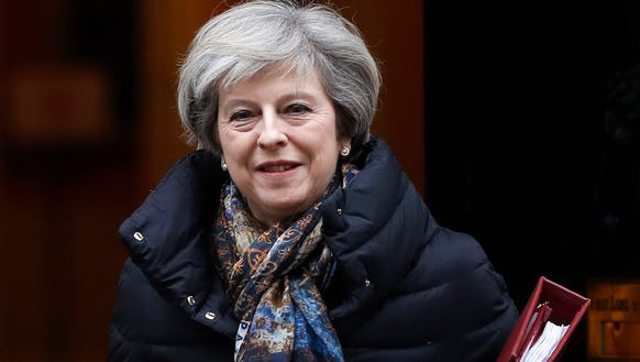 Britain's Prime Minister Theresa May in London on Jan.