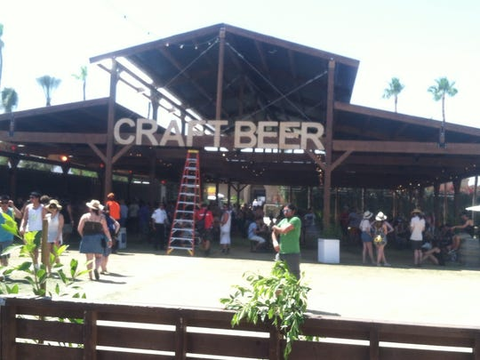 The Craft Beer barn at the Coachella Valley Music and Arts Festival has some 39 beers on tap.