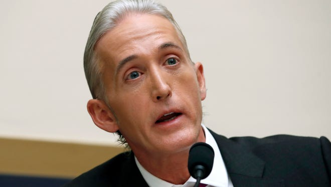 In this Nov. 14, 2017 file photo, Rep. Trey Gowdy, R-S.C., questions Attorney General Jeff Sessions during a House Judiciary Committee hearing on Capitol Hill in Washington. The FBI acted properly in its investigation of contacts between President Donald Trump's 2016 campaign and Russia, according to Gowdy, who recently received a classified briefing about the origins of the FBI probe.