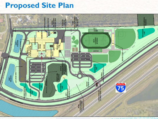The plan for Bonita Springs High School