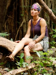 """Angela Perkins in a scene from the upcoming on """"Survivor:"""