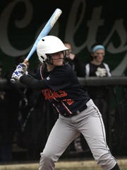 Galion's Maddy Harmon readies herself at bat while