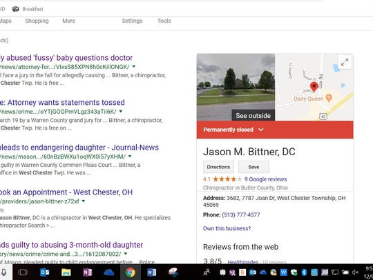 Jason Bittner's chiropractor practice in West Chester