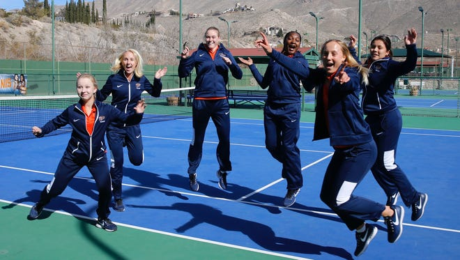 Six of the eight UTEP team members are jumping with excitement for the 2018 season to kick off today at El Paso Tennis Club. The MIners will be taking on Western New Mexico in their opening match scheduled for noon.