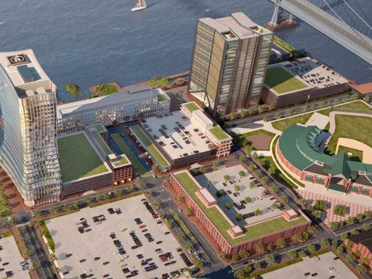 A planned development on Camden's Waterfront will hold more than 1 million square feet of commercial space, according to a master plan.