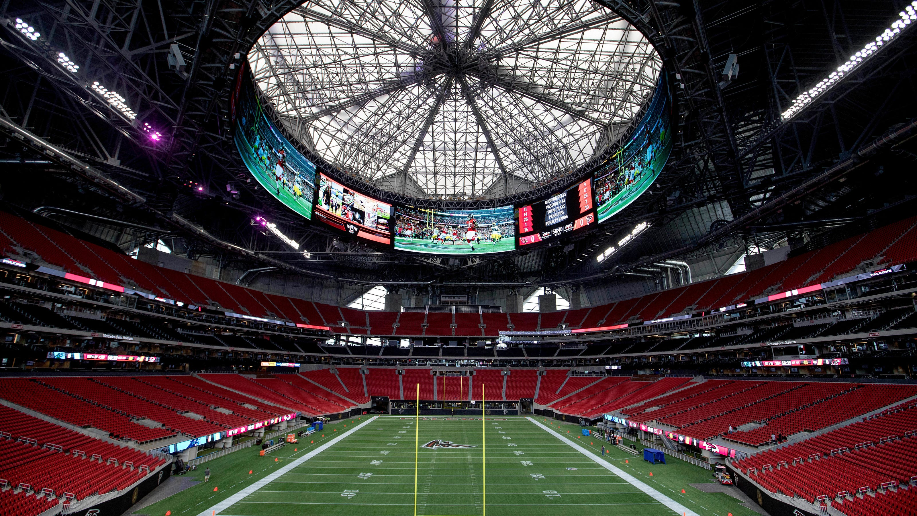workers to fix automation issues on atlanta stadium's roof