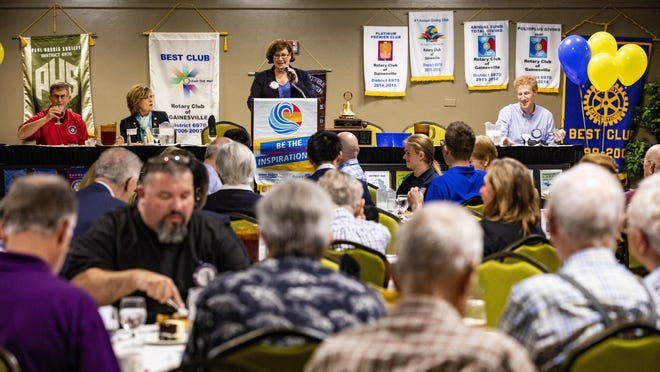 The Rotary Club of Gainesville meeting at the Wyndham Garden in 2018.