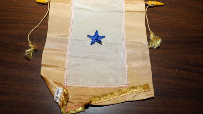 A Blue Star banner is shown April 3 at the Des Moines County Heritage Center Museum, 501 N. Fourth St in Burlington.