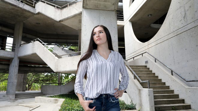Megan McGourley, a junior in the University of Florida School of Architecture at the College of Design, Construction & Planning, says she is worried about coming back to in-person classes due to the continued COVID-19 pandemic.