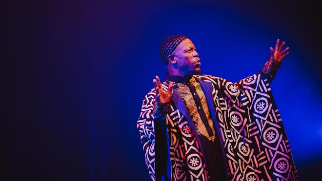 "Prophet Seay performs as a griot, or storyteller, in Karamu House's ""Freedom on Juneteenth,"" which will stream Friday night."