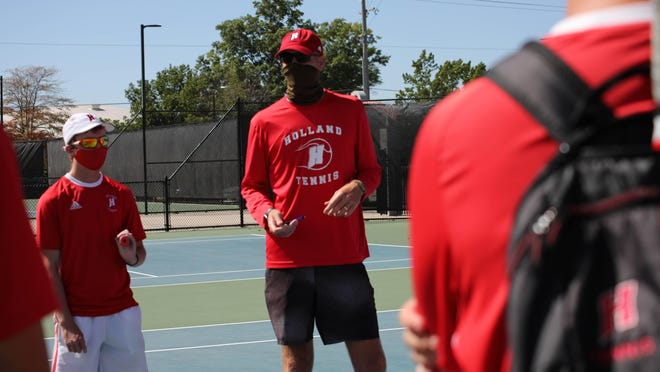 Holland tennis coach Kyle Kreps was voted Regional Coach of the Year.
