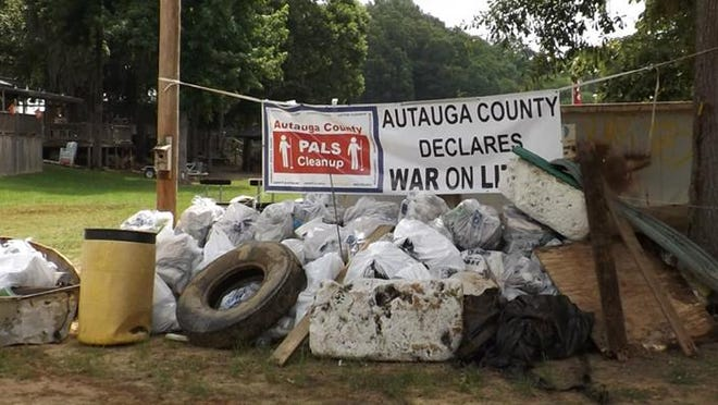 This is a picture of some of the items that were picked up during last year's Swift Creek Cleanup.
