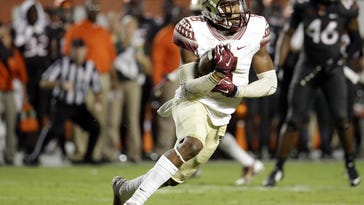 Florida State's Jalen Ramsey clinched the Seminoles' win over Miami in 2014 with this interception late in the fourth quarter.