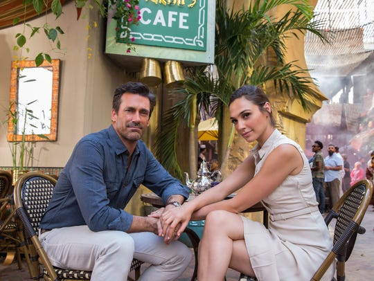 Jon Hamm and Gal Gadot portray the Joneses, covert