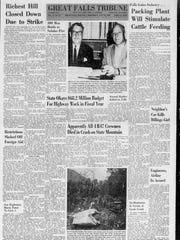 "The front page of the July 25, 1962, Great Falls Tribune had the headlines for a strike in Butte, a fire in the Bitterroot, a meat packing plant in the works and ""Apparently all four B-47 crewmen died in crash on state mountain."""