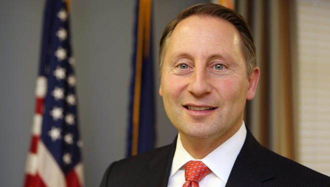 Robert P. Astorino, the Westchester County Executive, is pictured in his office in White Plains, Dec. 29, 2015.