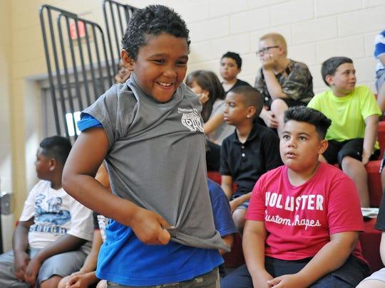 Ben Rojas-Torres ,8, was excited to wear a Vineland