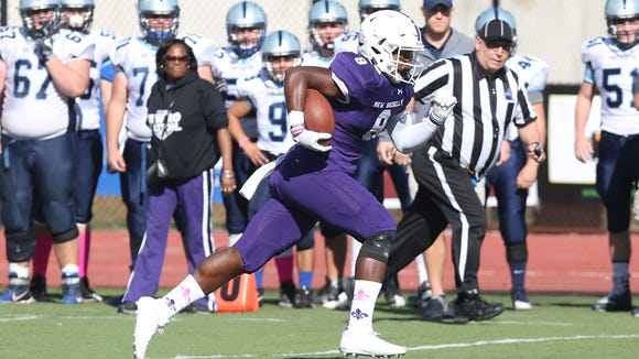 New Rochelle defeated John Jay (EF) 28-14 in Section 1 semifinal playoff action at New Rochelle High School Oct. 28, 2017.