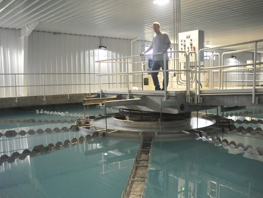 Chad Slagle, who runs the city's new water treatment