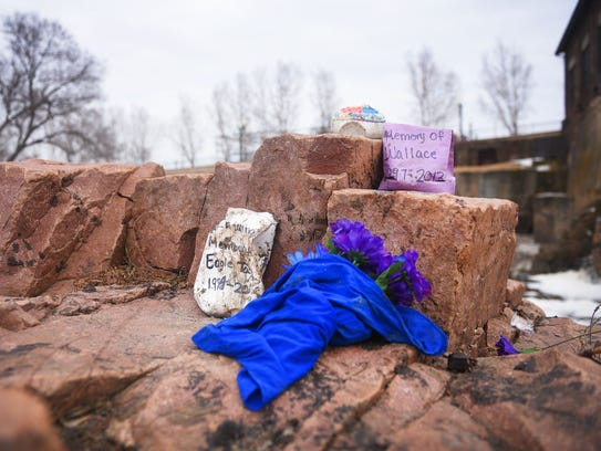 Falls Park Monday, March 19, in Sioux Falls. A memorial