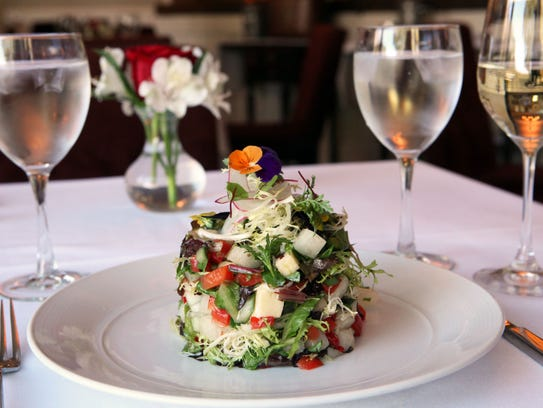 The Kittle House Chopped Salad. The Chappaqua restaurant