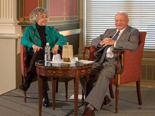 Author and folklorist Peggy Bulger with Stetson Kennedy in 2007. Bulger will discuss her new book about Kennedy's life and work at the Brevard Museum of History and Natural Science on Saturday afternoon.