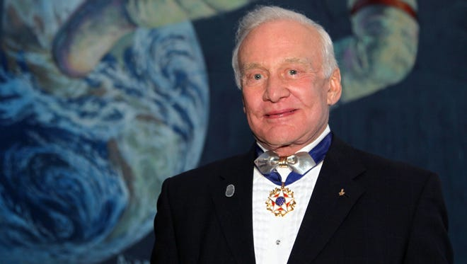 Astronaut Buzz Aldrin, member of the first landing mission to reach the moon, lives in Satellite Beach.