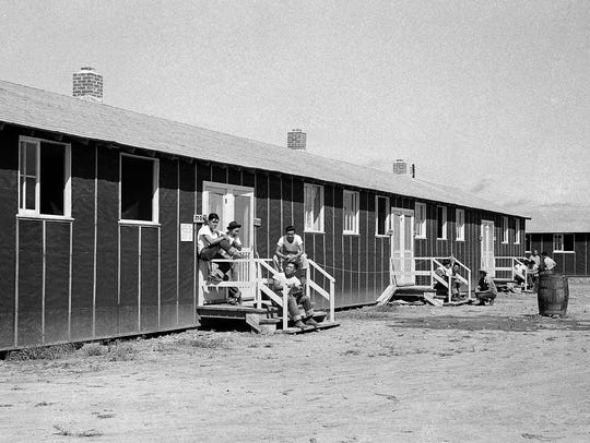 This photo from Sept. 21, 1942, shows Japanese Americans