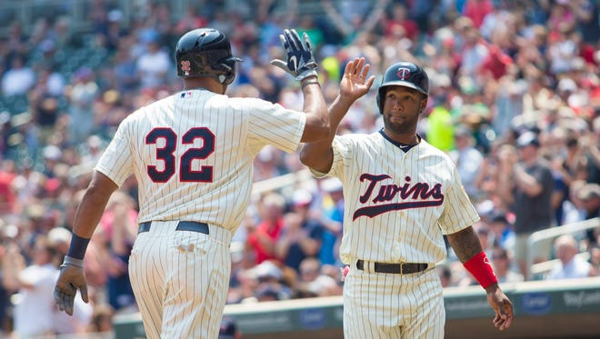 Aaron Hicks homers for the first time in more than a year.