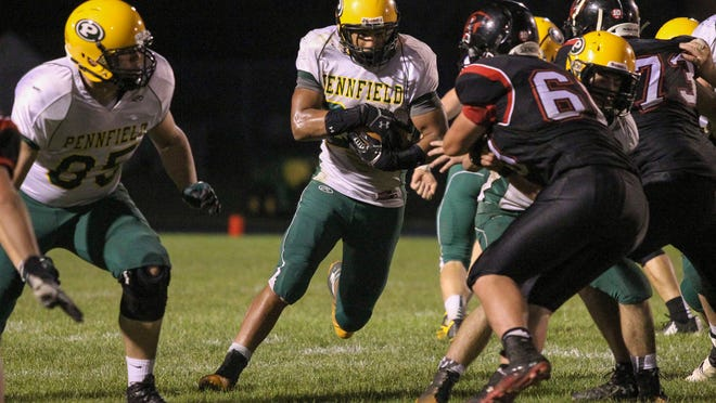 Pennfield's DaWan Smith scored twice for the Panthers in this 27-13 victory over Marshall in Interstate 8 play on Friday.